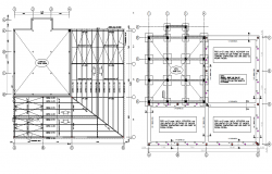 Construction detail sectional plan dwg file