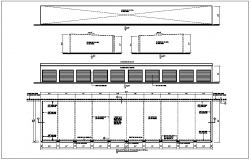 Construction detail view of floor plan and foundation dwg file
