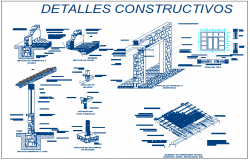 Construction detail view of wall window etc dwg file