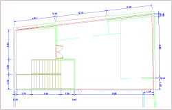 Construction detail with view of area view dwg file