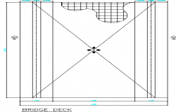 Construction details of heavy vehicle bridge deck dwg file