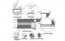 Construction details of multiplex cinema cad drawing details dwg file