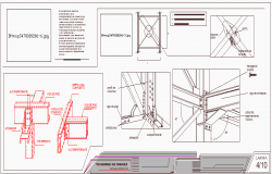Construction details of tensors stiffness dwg file