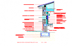 Construction of Facade DWG file