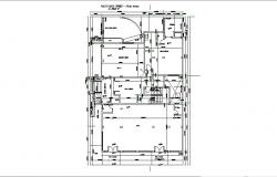 Construction plan of Residential house with detail dimension in AutoCAD