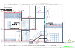 Construction section plan detailed dwg.