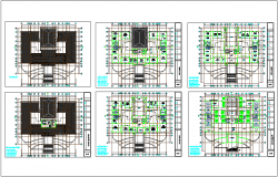 Construction view of building floor plan dwg file
