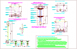 Construction view of electrical installation view dwg file