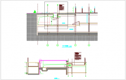 Construction view of fire lane dwg file