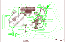 Construction view of general layout dwg file
