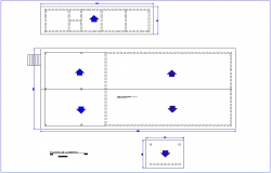 Construction view of industrial area dwg file