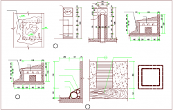 Construction view of office building dwg file