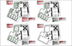 Construction view of school plan design dwg file