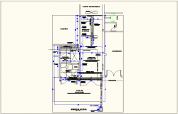 Construction view of solid waste manage system for hospital dwg file