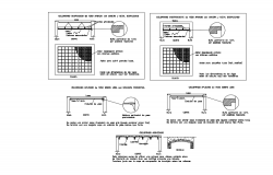 Construction view of suspend ceiling with construction view dwg file