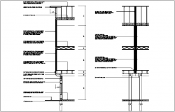 Construction view of wall section dwg file