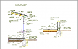 Construction view of wall with section view dwg file