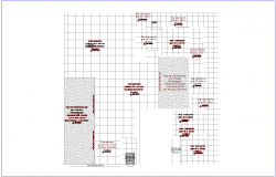 Construction view with flooring of office dwg file