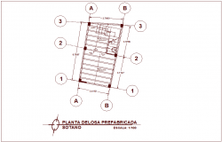 Construction view with slab view in plan for law office dwg file