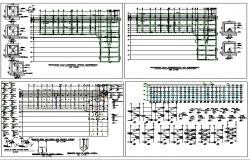 Construction with structure details of administrative building dwg file