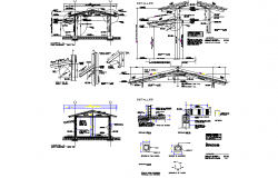 Construction working plan detail dwg file
