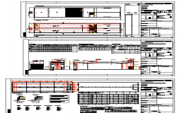 Constructive and auto-cad details of commercial building dwg file