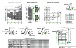 Constructive and structure details of shopping center with hotel dwg file