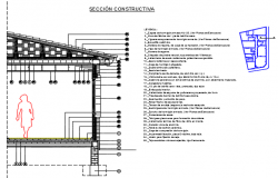 Constructive detail family housing plan detail dwg file