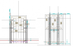 Constructive details of column of house dwg file