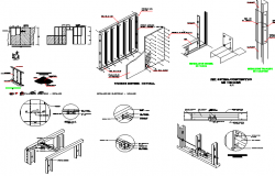 Constructive details of office building dwg file