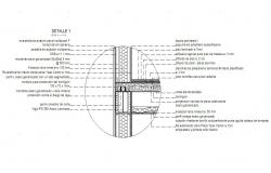 Constructive section details of house cad drawing details dwg file
