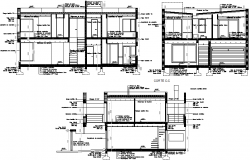 Constructive section family housing plan detail dwg file