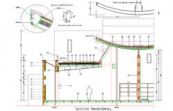 Constructive section plan detail dwg file