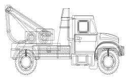 Constructive truck side view drawing cad block details dwg file