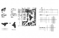 Consultant center elevation, section, plan and auto-cad details dwg file
