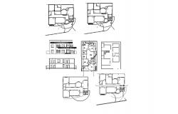 Contemporary House CAD Drawing