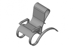 Contemporary chair design in  3d