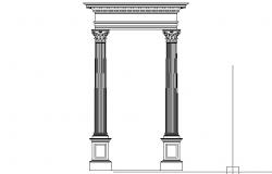 Corithian order column