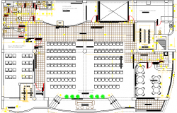 Corporate Building Architecture Layout and Structure Details dwg file