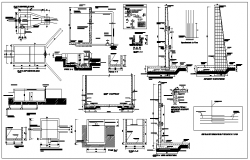 Corporate Building Architecture Layout dwg file.