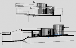 Corporate Building Front and Back Elevations dwg file