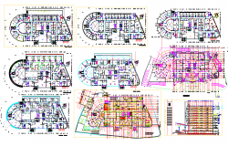 Corporate Building Project dwg file