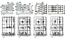 Corporate Building project detail dwg file