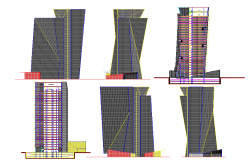 Corporate High Rise Building Design in autocad file.