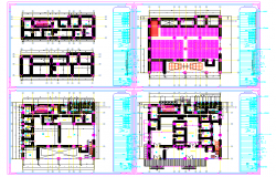 Corporate Office Building Construction plan dwg file