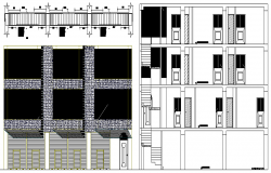Corporate Office Design and Elevation Plan dwg file