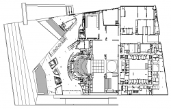 Corporate Office Layout plan dwg file