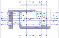 Corporate annex building plan design dwg file