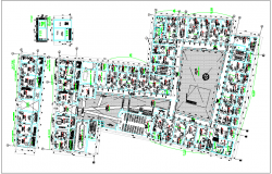 Corporate building detail plan view dwg file