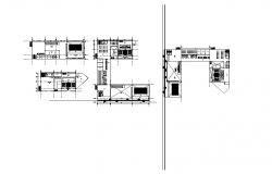 Corporate building distribution plan cad drawing details dwg file